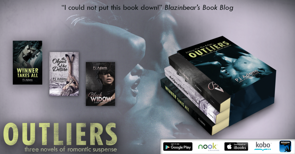 Outliers: Three novels of romantic suspense by PJ Adams